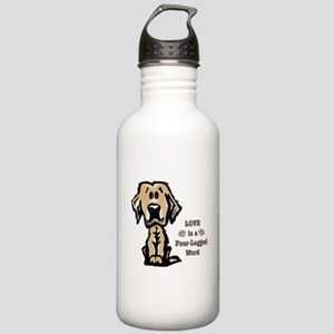 Love is a Four Legged Word Water Bottle