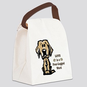 Love is a Four Legged Word Canvas Lunch Bag
