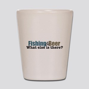 Fishing and Beer Shot Glass