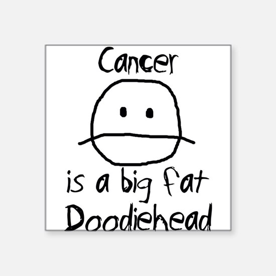 "Cute Cancer Square Sticker 3"" x 3"""