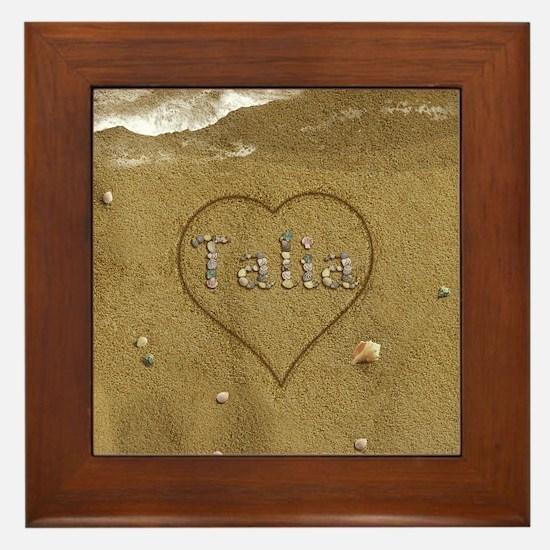 Talia Beach Love Framed Tile