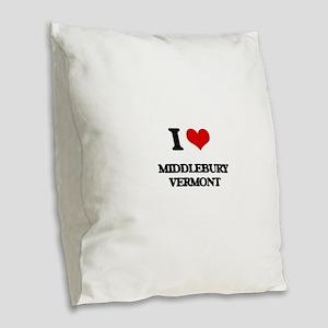 I love Middlebury Vermont Burlap Throw Pillow