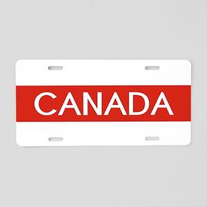 Canada (Red Stripe) Aluminum License Plate