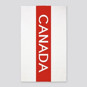 Canada (Red Stripe) Area Rug