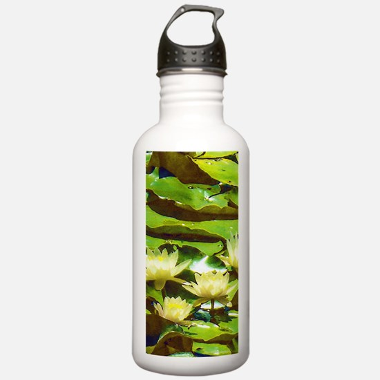 Yellow Water Lilies Water Bottle