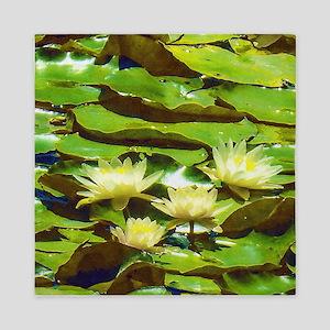 Yellow Water Lilies Queen Duvet