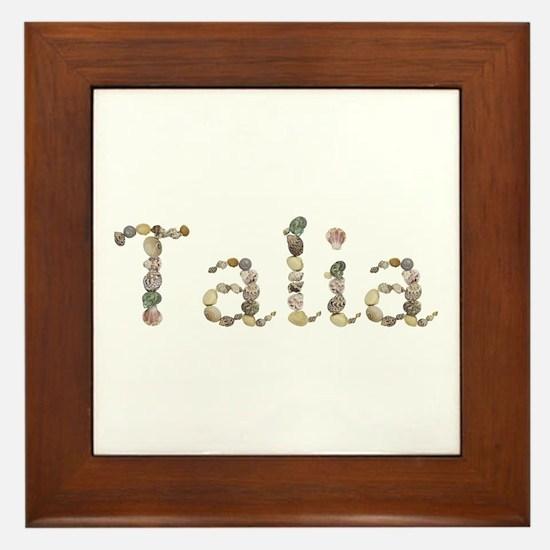 Talia Seashells Framed Tile