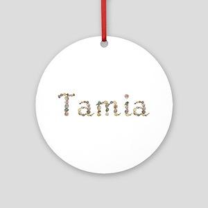Tamia Seashells Round Ornament