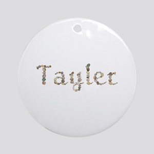 Tayler Seashells Round Ornament