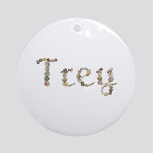 Trey Seashells Round Ornament