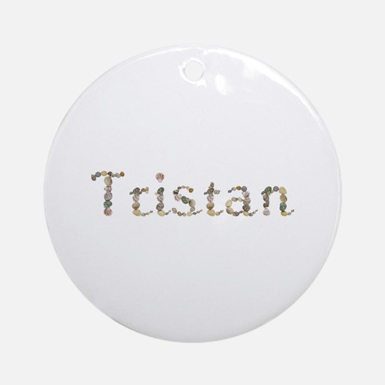 Tristan Seashells Round Ornament