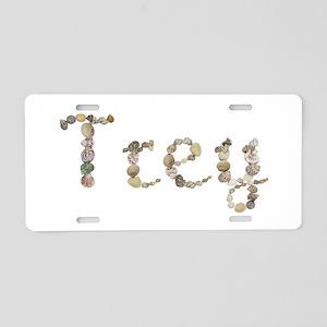Trey Seashells Aluminum License Plate