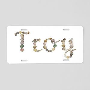 Troy Seashells Aluminum License Plate