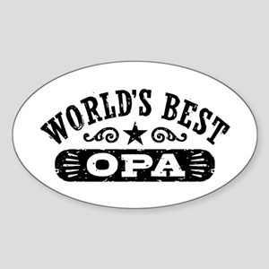 World's Best Opa Sticker (Oval)