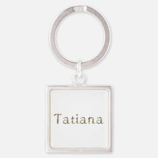 Tatiana Seashells Square Keychain