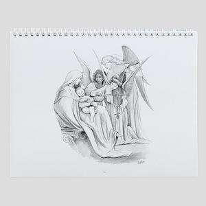 Wall Calendar Religious Drawings.
