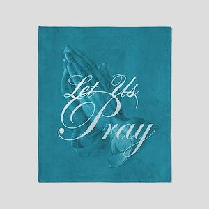 Let Us Pray Throw Blanket