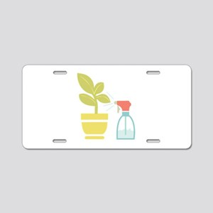 Water House Plant Aluminum License Plate