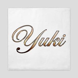 Gold Yuki Queen Duvet