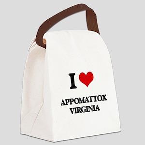 I love Appomattox Virginia Canvas Lunch Bag