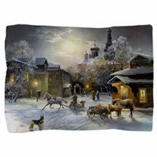 Russian Winter Painting Pillow Sham