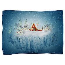 Surreal Christmas Fantasy Pillow Sham