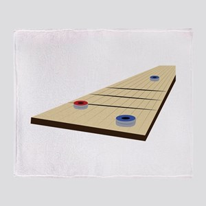 Shuffle Board Throw Blanket