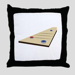 Shuffle Board Throw Pillow