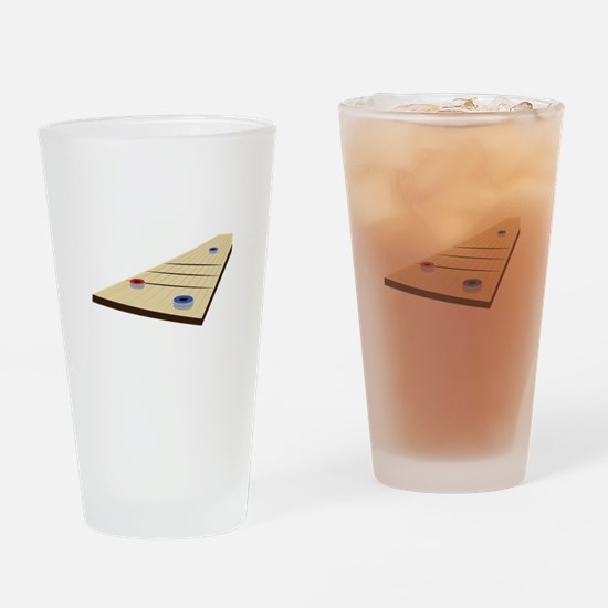 Shuffle Board Drinking Glass