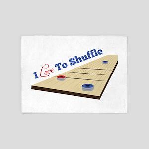 Love to Shuffle 5'x7'Area Rug
