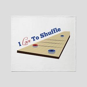 Love to Shuffle Throw Blanket