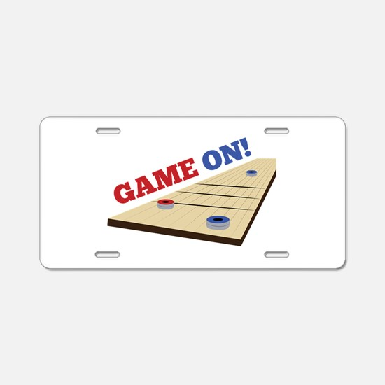 Game On! Aluminum License Plate