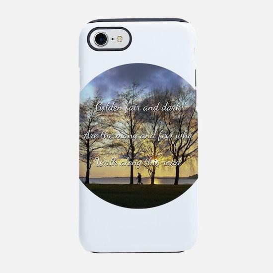 Golden fair and dark iPhone 7 Tough Case