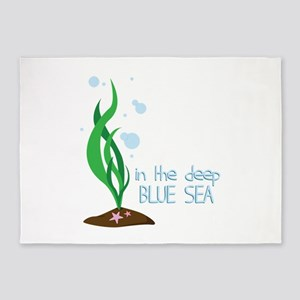 Deep Blue Sea 5'x7'Area Rug