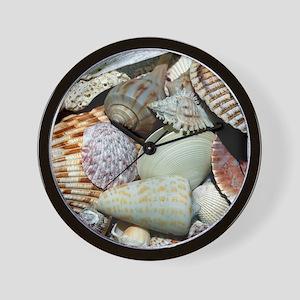 Colorful Seashells Wall Clock