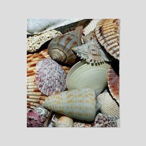 Colorful Seashells Throw Blanket