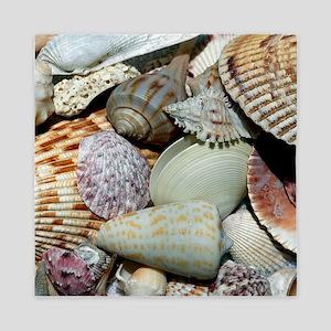 Colorful Seashells Queen Duvet