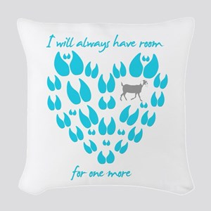 Nubian Goats Always Room Woven Throw Pillow