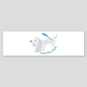 Leave A Note Bumper Sticker
