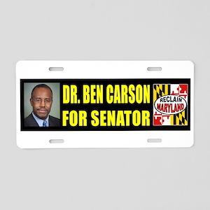 Ben Carson For Senator Aluminum License Plate