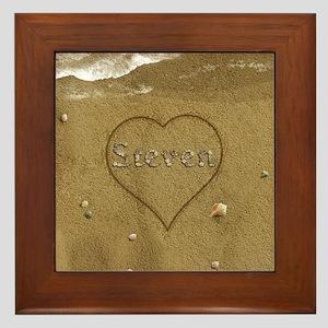 Steven Beach Love Framed Tile