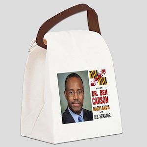 DR. BEN CARSON FOR US SENATOR Canvas Lunch Bag