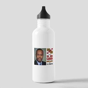 DR. BEN CARSON FOR US SENATOR Water Bottle