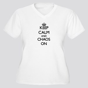 Keep Calm and Chaos ON Plus Size T-Shirt