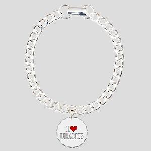 I Love Uranus Bracelet Charm Bracelet, One Charm