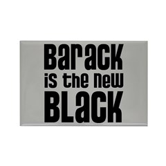 Barack is the New Black Rectangle Magnet