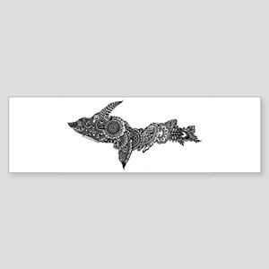 Mehndi Upper Peninsula UP by Kris Bumper Sticker