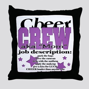 Cheer Crew aka Mom Throw Pillow