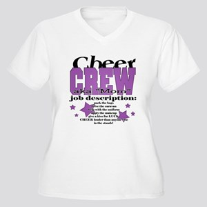 Cheer Crew aka Mom Women's Plus Size V-Neck T-Shir