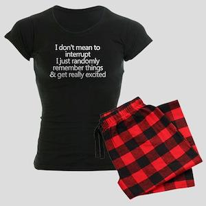 Random Excitement Women's Dark Pajamas